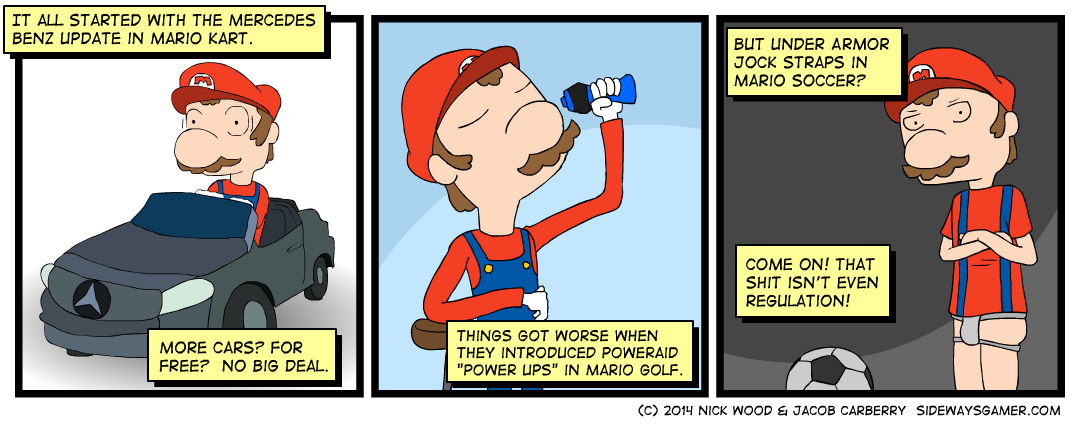 Mario's got the Benz